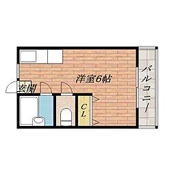 シャルール南茨木[2階]の間取り