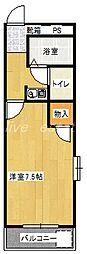 ブルーベルSAITO[3階]の間取り