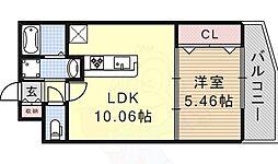 メゾンルミエール 1階1LDKの間取り