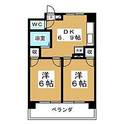 DKレジデンス泉中央[4階]の間取り