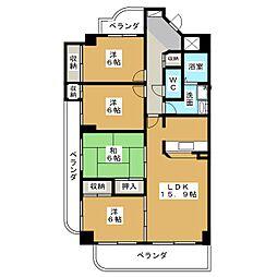SQUARE MORAVITO[6階]の間取り