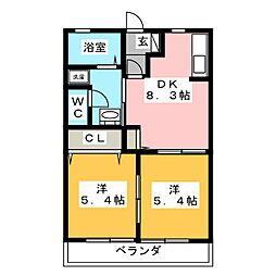 シャーメゾン青木[2階]の間取り