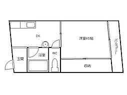 藤正ファインクラフト[5階]の間取り