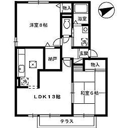 TMKホープII K棟[103号室]の間取り