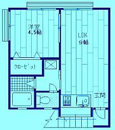 第1鈴信荘[2階]の間取り