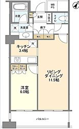 N4.TOWER[9階]の間取り