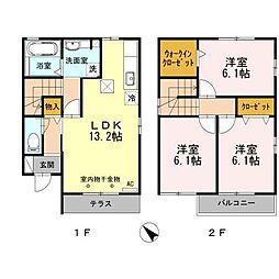 [一戸建] 静岡県浜松市北区初生町 の賃貸【静岡県 / 浜松市北区】の間取り