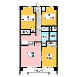 ヴィラMRK8[3階]の間取り