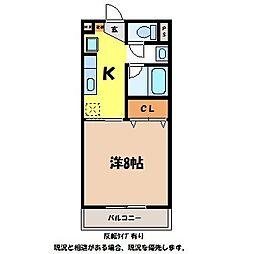 JR飯田線 宮木駅 徒歩25分の賃貸アパート 1階1Kの間取り