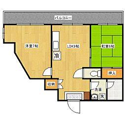 サンシモヤマ[3階]の間取り