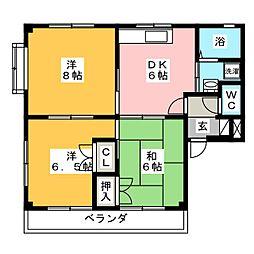メゾン・ヤンヤンII[2階]の間取り