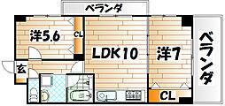 COMFORT SQUARE LUXE(コンフォートスクエア[9階]の間取り