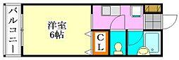 ピュアメゾンT&Y[206号室]の間取り