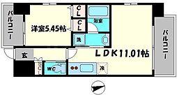Osaka Metro長堀鶴見緑地線 蒲生四丁目駅 徒歩3分の賃貸マンション 4階1LDKの間取り
