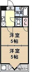 プランドール勧修寺[305号室号室]の間取り