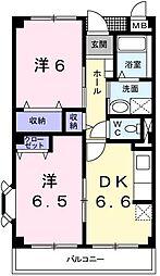グランボア[3階]の間取り
