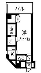 Osaka Metro谷町線 東梅田駅 徒歩6分の賃貸マンション 4階1Kの間取り