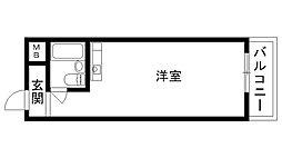 夙川ハイム[201号室]の間取り