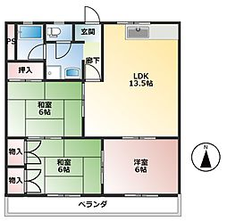 クリエートハイム251[2階]の間取り