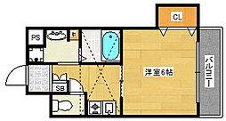 プレサンスフジ[6階]の間取り
