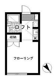 パレス杉田III[203号室]の間取り