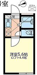 神奈川県相模原市中央区千代田3丁目の賃貸アパートの間取り