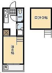 コンフォート岡[206号室]の間取り