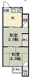 基陽マンション[203号室]の間取り