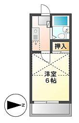 エクセル八田Ⅱ[2階]の間取り