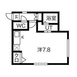 グランディール覚王山[201号室]の間取り