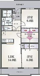 シンフォニーハウス[3階]の間取り
