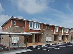 鹿児島県南さつま市加世田村原の賃貸アパートの外観