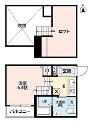 フェリス 名島[2階]の間取り