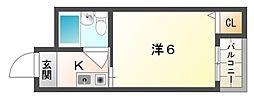 エスポアール豊秀I[4階]の間取り