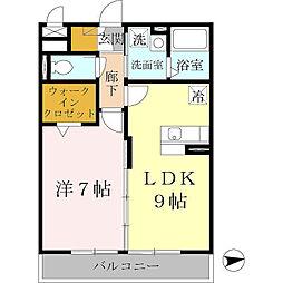大阪府堺市西区鳳中町7丁の賃貸アパートの間取り