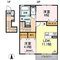 D−room南吉田(仮)[B203 号室号室]の間取り