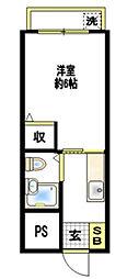 神奈川県藤沢市円行2丁目の賃貸アパートの間取り