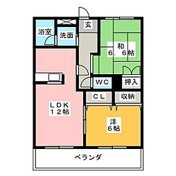 グランドール芳栄II[3階]の間取り