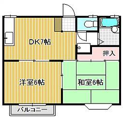 シャトルパート6 A棟[1階]の間取り