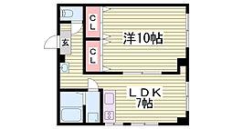 イナオカビル永沢町[5階]の間取り