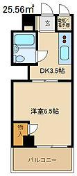 早稲田マンション[302号室]の間取り