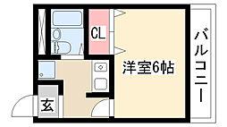 愛知県名古屋市天白区植田南1丁目の賃貸マンションの間取り