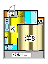 カシュカシュ[3階]の間取り