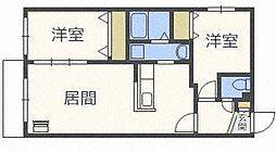 北海道札幌市東区北十一条東12丁目の賃貸マンションの間取り