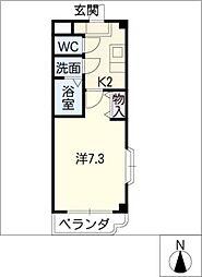 シンビリア亀島[4階]の間取り