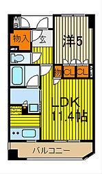 KDX川口幸町レジデンス[704号室]の間取り