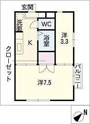 アムール南加木屋[1階]の間取り