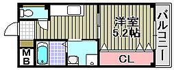 ハイネ福田2号館[301号室]の間取り