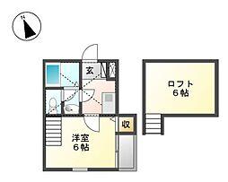 メゾンブランシュ[2階]の間取り