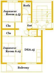 竹山第2 3202[4階]の間取り